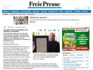 Artikel Rückkehrernetzwerk bei Freie Presse