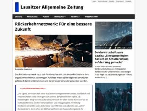 Artikel Rückkehrernetzwerk Lausitzer Allgemeine Zeitung
