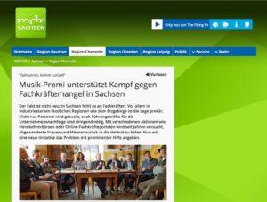 Artikel Rückkehrernetzwerk bei MDR Sachsen