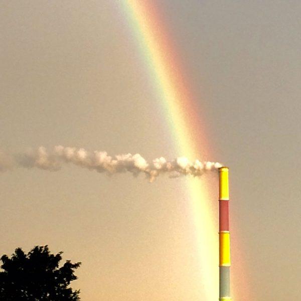 Regenbogen über Chemnitz