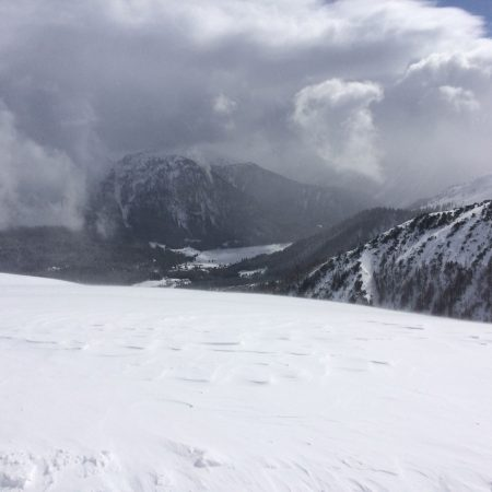 Ski fahren in der alten Heimat